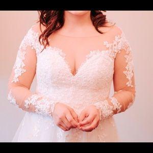 Sincerity Bridal Dresses - Wedding Dress! Ivory over nude